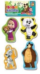 "Фото Мягкие пазлы Baby puzzle Маша и Медведь ""Панда и заяц"" (VT1106-53)"