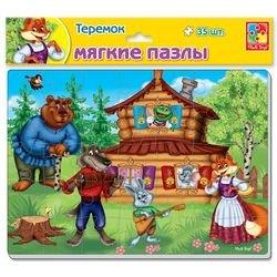 Фото Мягкие пазлы Сказка Теремок А4 35 элементов (VT1102-15)