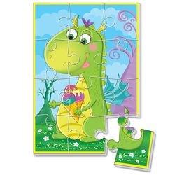 """Фото Мягкие пазлы """"Динозаврики""""  А5 (Динозавр с мороженым,VT1103-50)"""