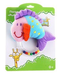 Фото Развивающая игрушка Погремушка Рыбка (93631)