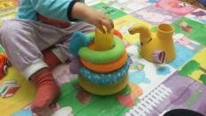 """Фотография Музыкальная пирамидка с шариками """"Слоник"""" (425) предоставлена покупателем"""