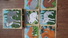 Фотография Кубики деревянные Животные леса 9 эл. предоставлена покупателем